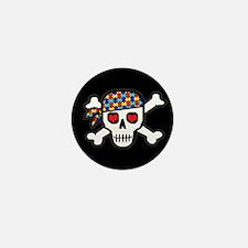 Rockin' Autism Skull (Blk) Mini Button