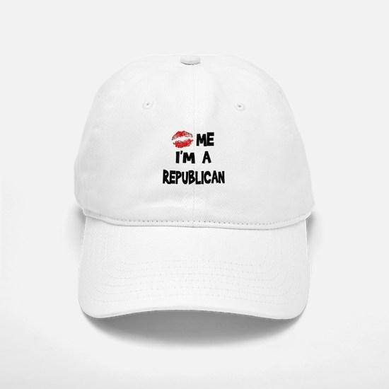 Kiss Me I'm A Republican Baseball Baseball Cap