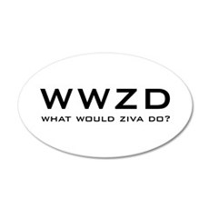 What Would Ziva Do? 22x14 Oval Wall Peel
