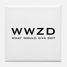 What Would Ziva Do? Tile Coaster