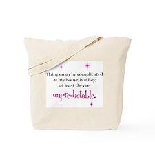 Complicated/Unpredictable tote bag
