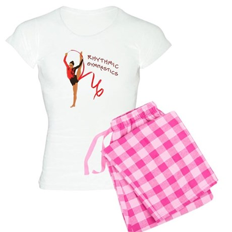 Red Gymnast Ribbon Women's Light Pajamas