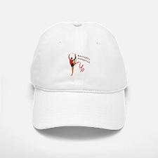Red Gymnast Ribbon Baseball Baseball Cap