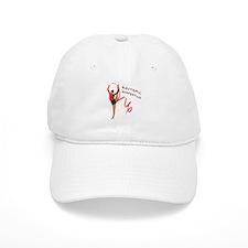Red Gymnast Ribbon Baseball Cap