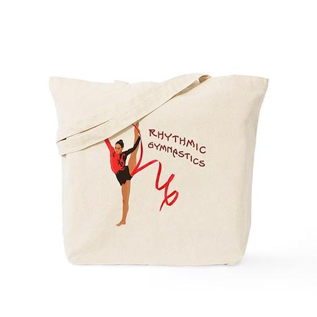 Red Gymnast Ribbon Tote Bag