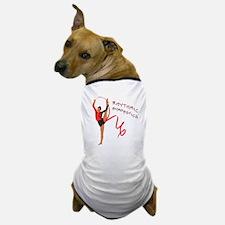 Red Gymnast Ribbon Dog T-Shirt