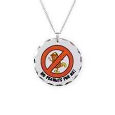 Cute Allergies Necklace Circle Charm