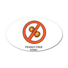 """""""Peanut-Free Zone"""" 22x14 Oval Wall Peel"""