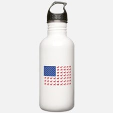 Original Patriotic Horse Flag Water Bottle