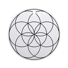 Germ Of Life Symbol Ornament (Round)