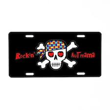 Rockin' AutMama (Blk) Aluminum License Plate