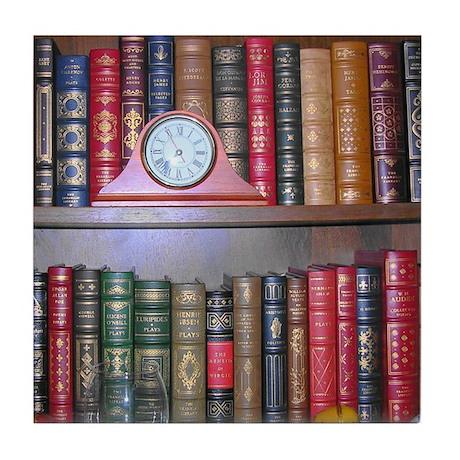 Reader's Bookshelf Tile Coaster