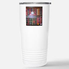 Reader's Bookshelf Stainless Steel Travel Mug