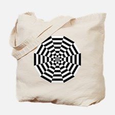 Dodecagon Black & White Tote Bag