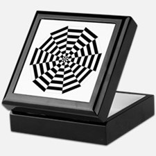 Dodecagon Black & White Keepsake Box