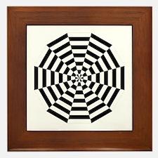 Dodecagon Black & White Framed Tile