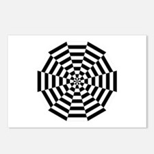 Dodecagon Black & White Postcards (Package of 8)