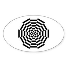Dodecagon Black & White Decal