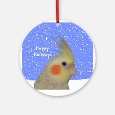 Cinnamon Pearl Cockatiel Art Holiday Ornament