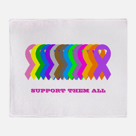 Support them all Throw Blanket