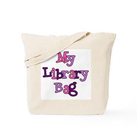 Pink/Purple Library Bag Tote Bag