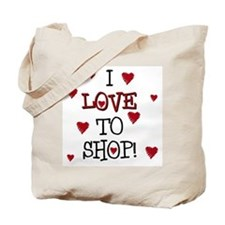 Loves to Shop Shopping & Tote Bag