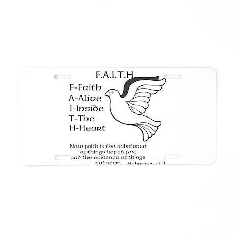 FAITH Aluminum License Plate by SFKP
