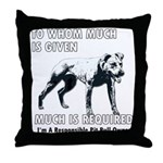 Responsible Owner Shirt Throw Pillow