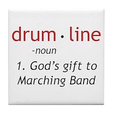 Definition of Drumline Tile Coaster