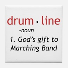 Definition of Drumline Tile Coaster