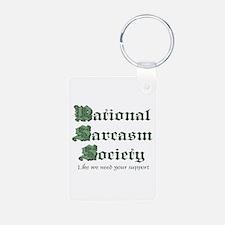 National Sarcasm Society Keychains
