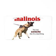 Schutzhund Malinois Aluminum License Plate