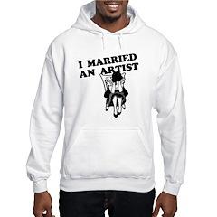 I Married an Artist Hoodie