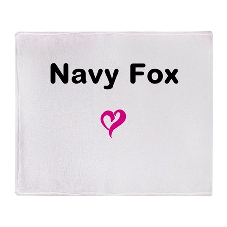 Navy Fox Throw Blanket