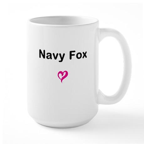Navy Fox Large Mug