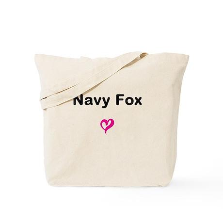 Navy Fox Tote Bag