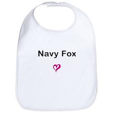 Navy Fox Bib