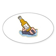 River Boozer Oval Decal