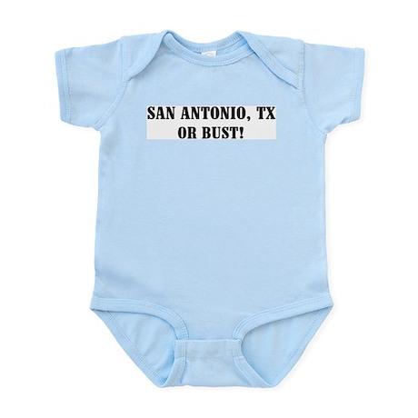 San Antonio or Bust! Infant Creeper