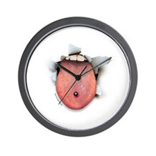 Pierced Tongue Burster Wall Clock