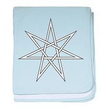 7-Pointed Star Symbol baby blanket