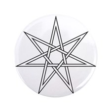 """7-Pointed Star Symbol 3.5"""" Button"""