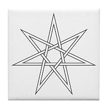 7-Pointed Star Symbol Tile Coaster
