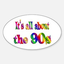 All About 90s Sticker (Oval)