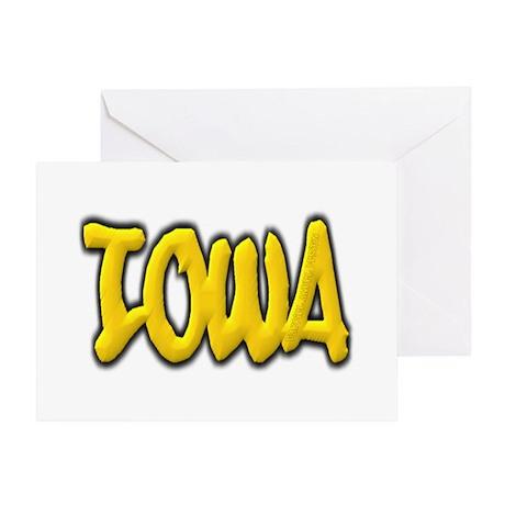 Iowa Graffiti Greeting Card