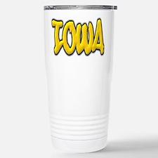 Iowa Graffiti Stainless Steel Travel Mug