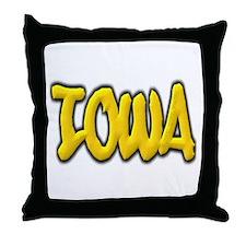 Iowa Graffiti Throw Pillow