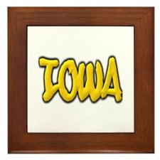 Iowa Graffiti Framed Tile