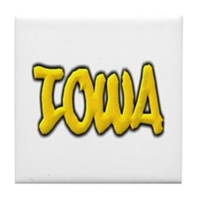 Iowa Graffiti Tile Coaster