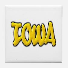 Iowa Graffiti Tile Coaster